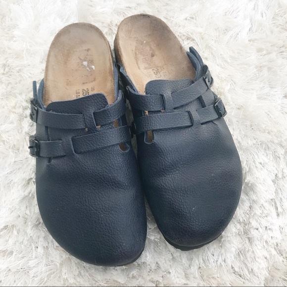 2d72cd3cdab8 Birkenstock Shoes - BIRKENSTOCK Birki s Navy Blue Clogs